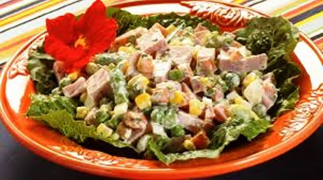 [PD] Menu - 0023. Ensalada con jamon